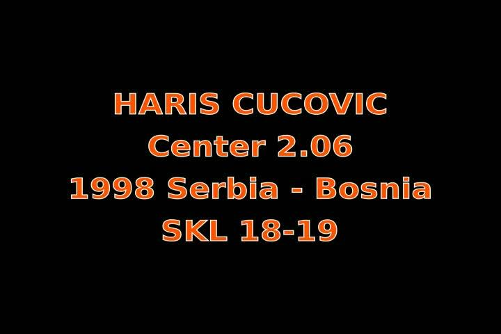 Video thumbnail of Haris Cucovic