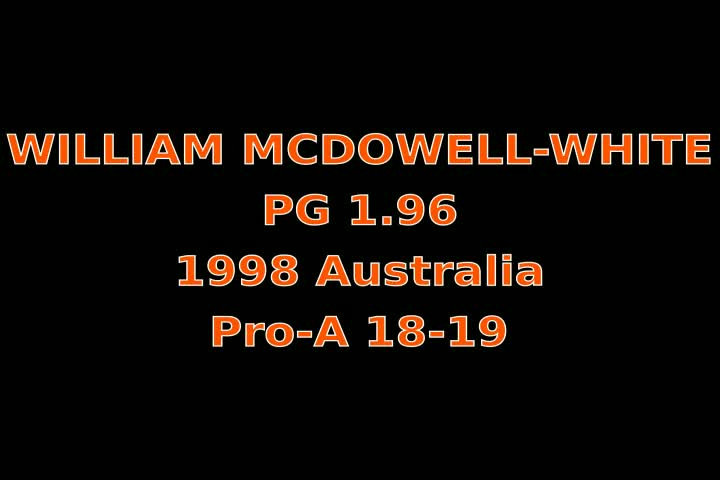 Video thumbnail of William McDowell-White